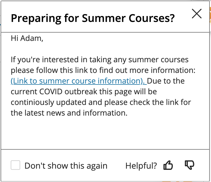 Preparing for Summer Courses?