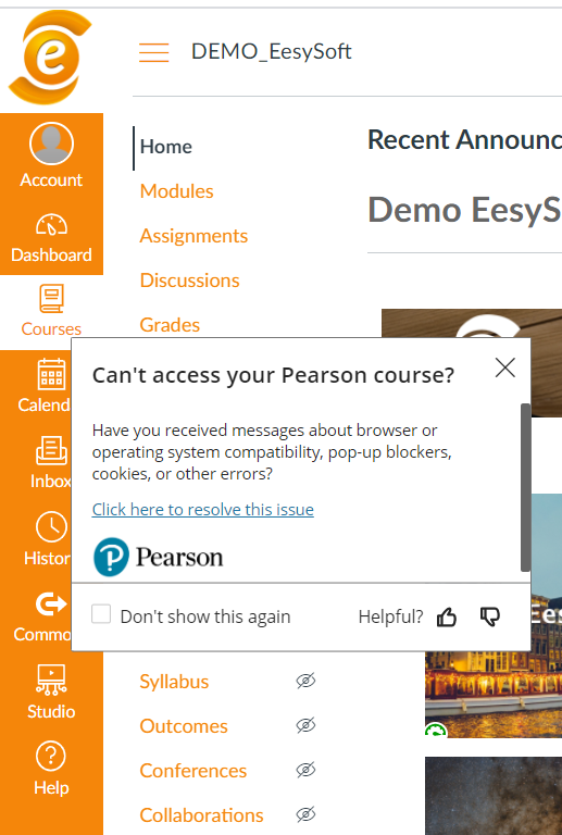Can't access your Pearson course?
